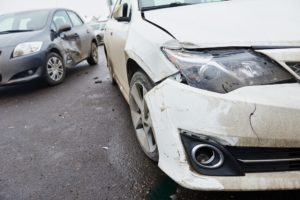 Car crash accident on street.