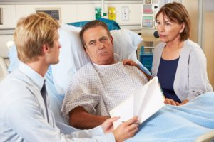Patient worried over medical claims.