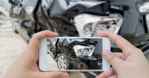 Take photo after car accident to document.